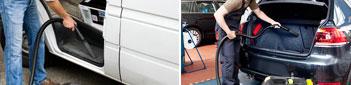 Сухая чистка салона автомобиля пылесосом
