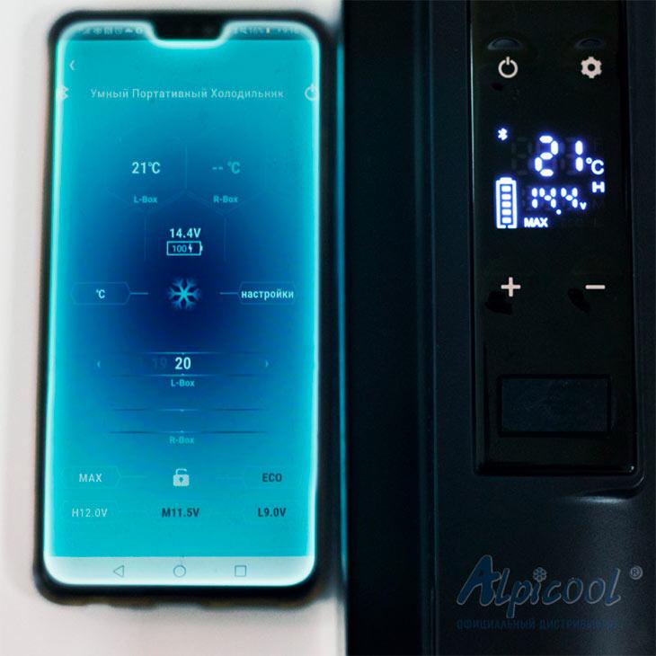 Управление через мобильное приложение у Alpicool C40