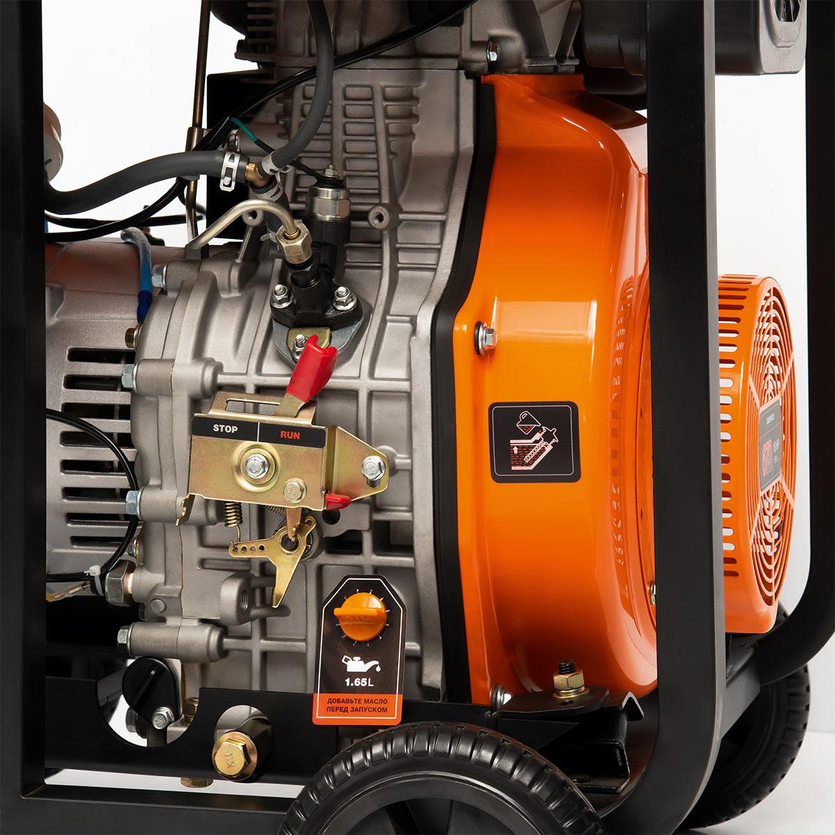 Двигатель генератора Daewoo DDAE 11000XE