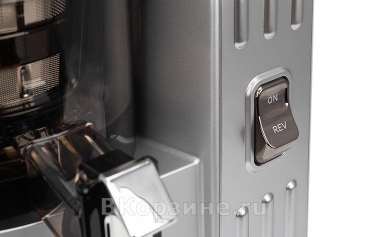 Кнопки управления у соковыжималки Sana Juicer EUJ-828, серебристый
