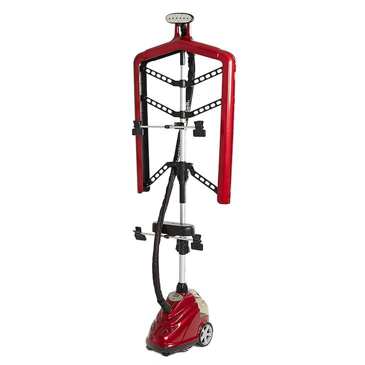 Отпариватель для одежды Гранд Мастер GM-S205 Professional, красный с каркасной вешалкой