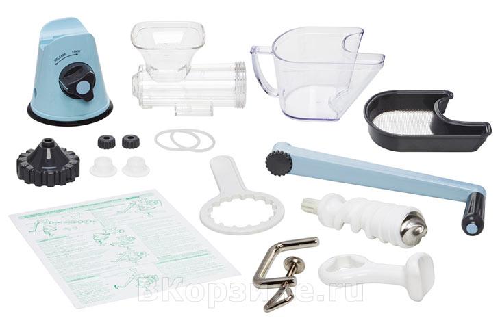 Комплектация Lexen Healthy Juicer Manual GP27-B, голубая