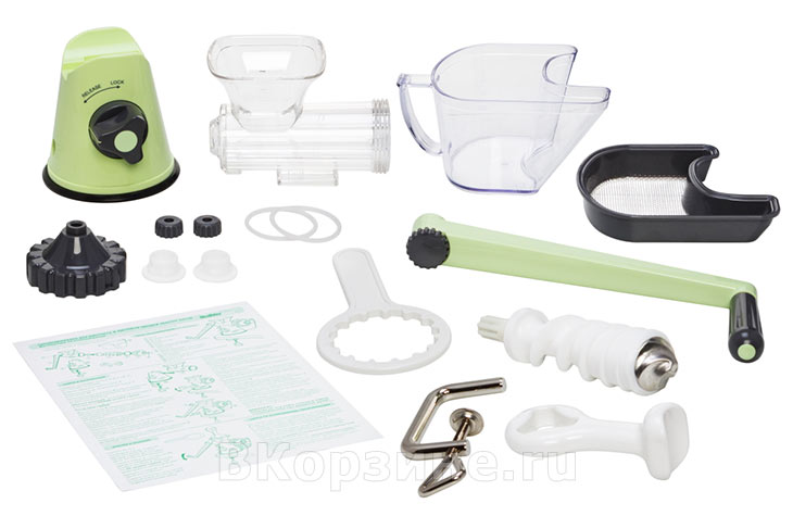 Комплектация Lexen Healthy Juicer Manual GP27-G, зеленая