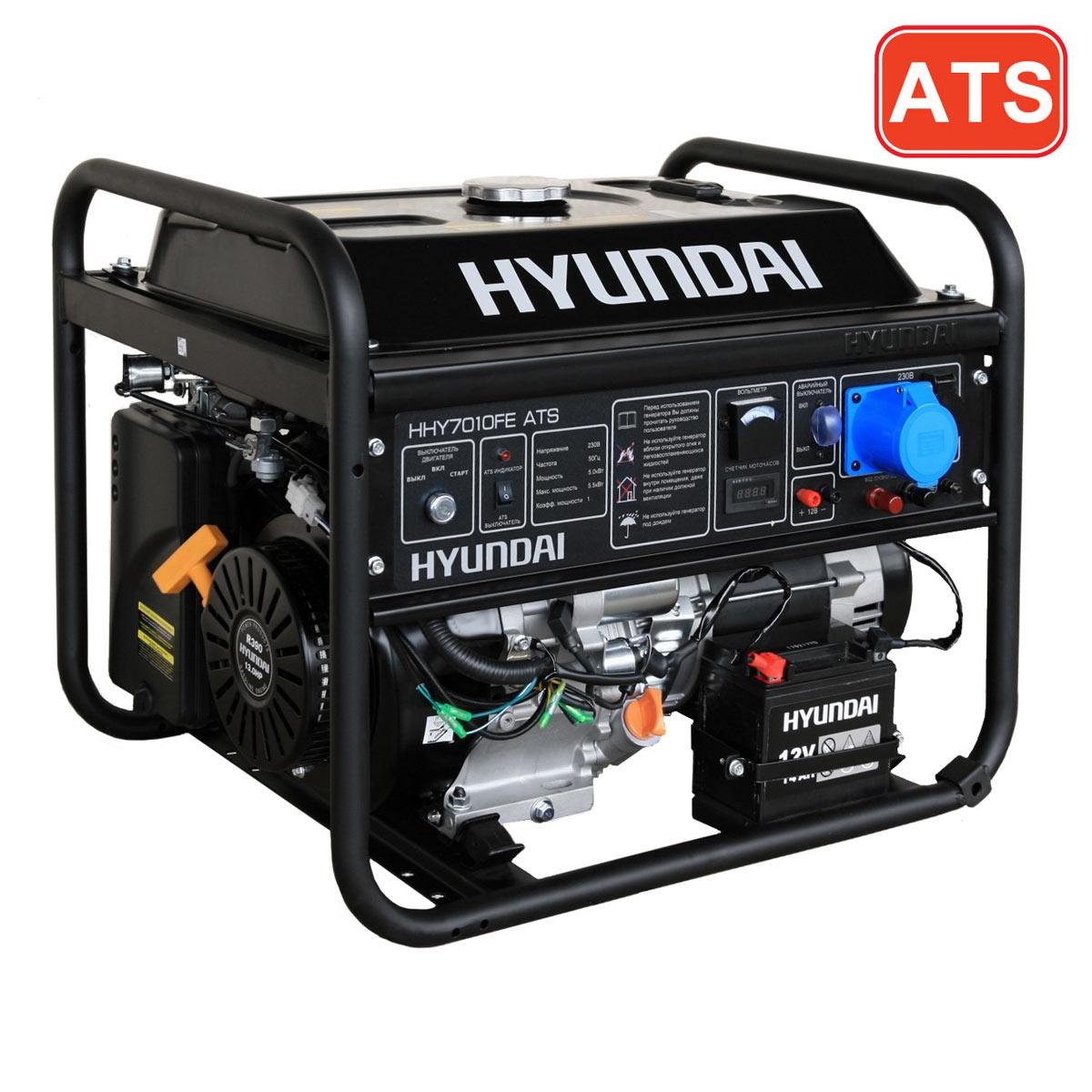 как подключить генератор hyundai с ats