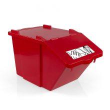 Контейнер для мусора TTS SPLIT красный, 45 л