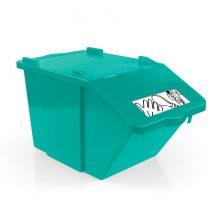 Контейнер для мусора TTS SPLIT зеленый, 45 л