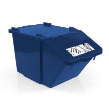 Контейнер для мусора TTS SPLIT синий, 45 л