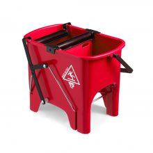 Ведро TTS Squizzy с двумя роликовыми отжимами, красное, 15 л