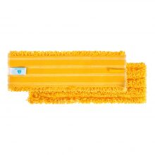 Моп TTS Microriccio на липучках, микроволокно, желтый, 40x10,5 см