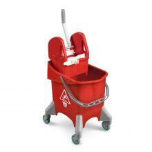 Ведро TTS Pile с отжимом Tek, на колесах, красное, 30 л