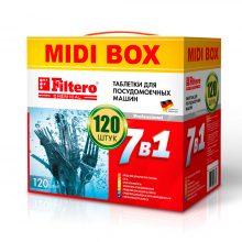 Таблетки Filtero для посудомоечных машин 7 в 1, 120 штук, арт. 710