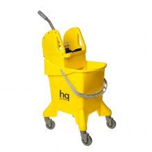 Ведро на колесах HQ Profiline с отжимом, желтое, 31 л