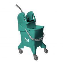 Ведро на колесах HQ Profiline с отжимом, зеленое, 31 л