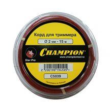 Корд триммерный Champion Star Pro (звезда), 2.0 мм, 15 м