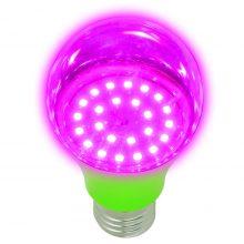 Фитолампа Uniel LED-A60-8W/SPSB/E27/CL PLP30GR