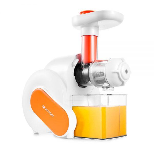 Шнековая соковыжималка Kitfort КТ-1110-2, оранжевая