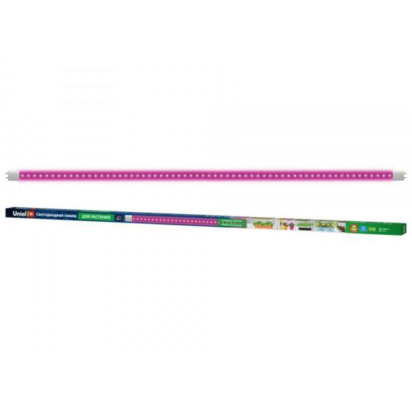 Uniel LED-T8-18W/SPSB/G13/CL PLP30WH, G13, 18 Вт, фиолетовый свет, линейный