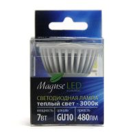 Светодиодная лампа Maguse GU10 7 Вт, теплый свет