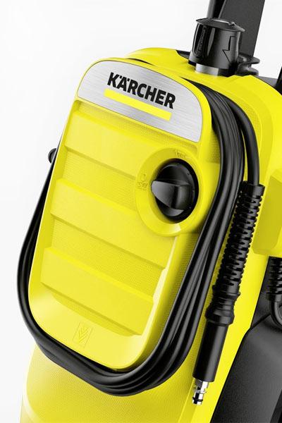 Хранение шланга на корпусе Karcher K 4 Compact