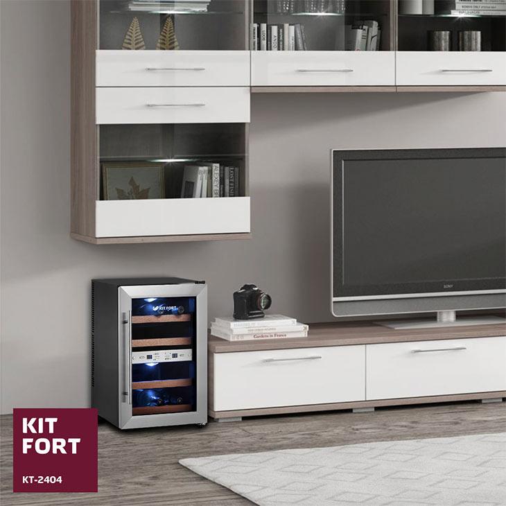 Винный шкаф Kitfort KT-2404 в интерьере