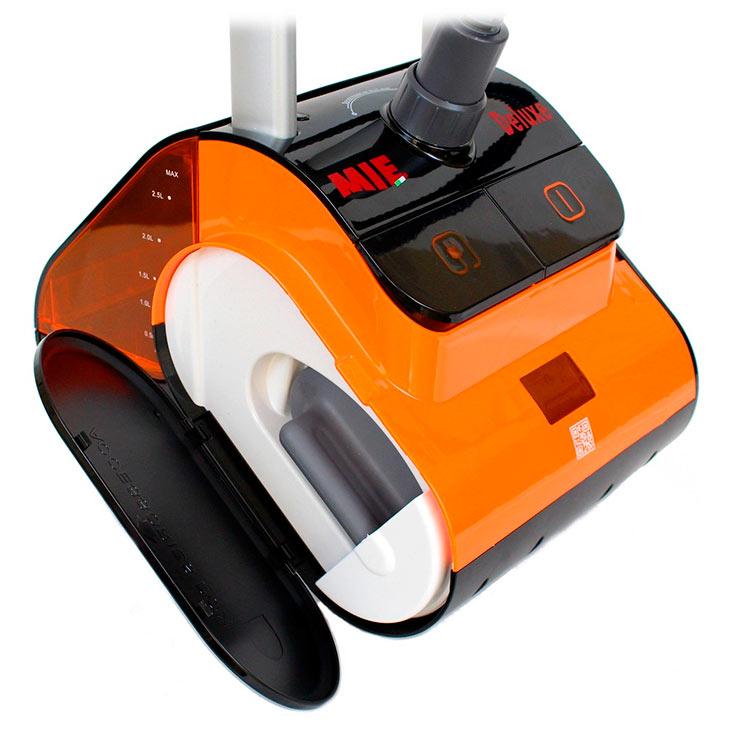 Боковой отсек для хранения аксессуаров у MIE Deluxe, черно-оранжевый