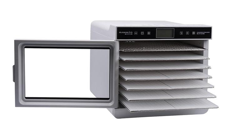 Дегидратор Rawmid Modern RMD-07-white с открытой дверцей