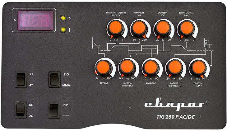 Панель управления Сварог TECH TIG 250 P AC/DC (E102)