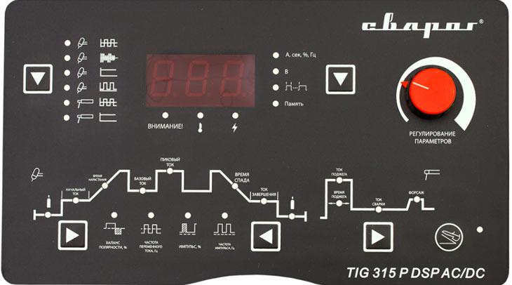 Панель управления Сварог TECH TIG 315 P DSP AC/DC (E106)